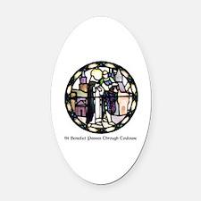 Unique Benedictine Oval Car Magnet