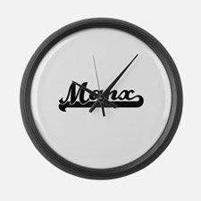 Manx Classic Retro Design Large Wall Clock