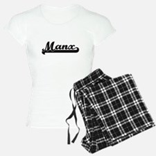 Manx Classic Retro Design Pajamas