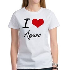 I Love Ayana artistic design T-Shirt