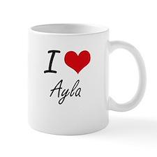 I Love Ayla artistic design Mugs