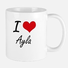 I Love Ayla artistic design Mugs