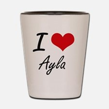 I Love Ayla artistic design Shot Glass