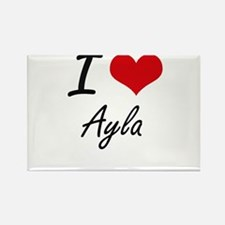 I Love Ayla artistic design Magnets