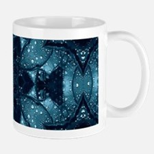 hipster mandala teal flower Mugs