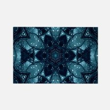 hipster mandala teal flower Magnets