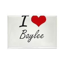 I Love Baylee artistic design Magnets