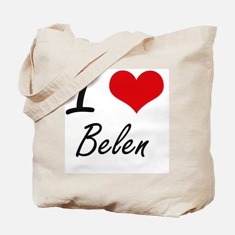 I Love Belen artistic design Tote Bag