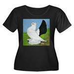 Russian Pigeon Women's Plus Size Scoop Neck Dark T