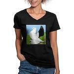 Russian Pigeon Women's V-Neck Dark T-Shirt