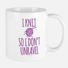 Knit So I Don't Unravel Mugs