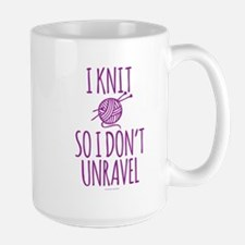 Knit So I Don't Unravel Mugs