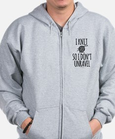 Knit So I Don't Unravel Zip Hoodie