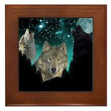 Wolves Twilight Framed Tile