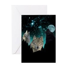 Wolves Twilight Greeting Cards