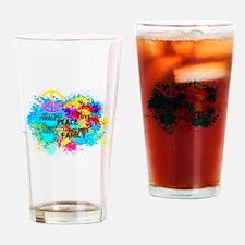 Splash Words of Good Peace Drinking Glass