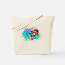 Splash Words of Good Peace Tote Bag