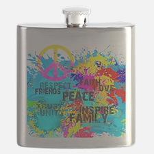 Splash Words of Good Peace Flask