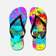 Splash Words of Good Yellow Peace Flip Flops