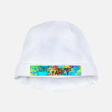 Splash Words of Good Yellow Peace baby hat