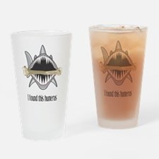 Funny Shark Drinking Glass