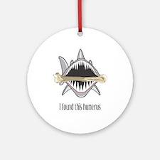 Funny Shark Round Ornament