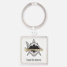 Funny Shark Square Keychain
