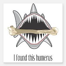 "Funny Shark Square Car Magnet 3"" x 3"""