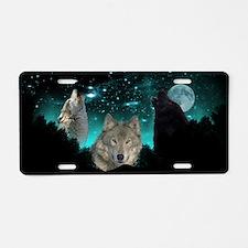 Wolves Twilight Aluminum License Plate