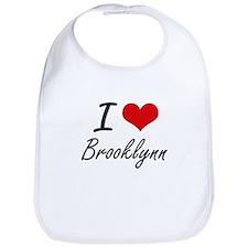 I Love Brooklynn artistic design Bib