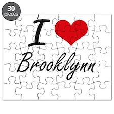 I Love Brooklynn artistic design Puzzle
