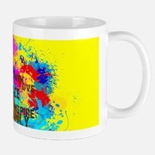 Splash Words of Good Yellow Peace Mugs