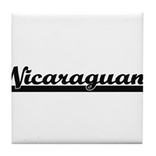 Nicaraguan Classic Retro Design Tile Coaster