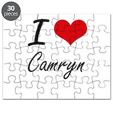 I Love Camryn artistic design Puzzle