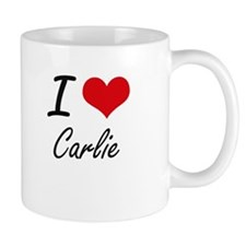 I Love Carlie artistic design Mugs