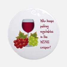 Funny Wine Lovers Quote Round Ornament