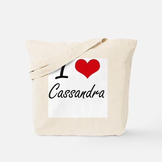 I Love Cassandra artistic design Tote Bag