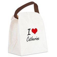 I Love Catherine artistic design Canvas Lunch Bag