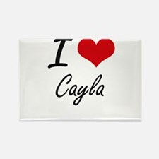 I Love Cayla artistic design Magnets