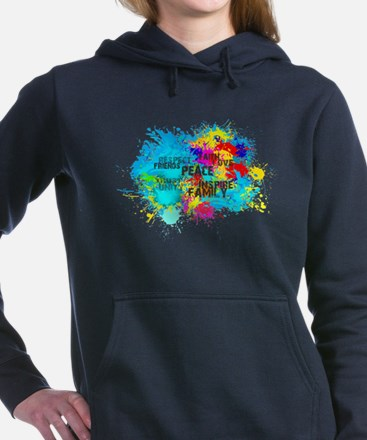 Splash Words of Good Women's Hooded Sweatshirt