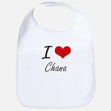 I Love Chana artistic design Bib