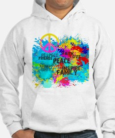 Splash Words of Good Peace Hoodie