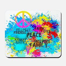 Splash Words of Good Peace Mousepad