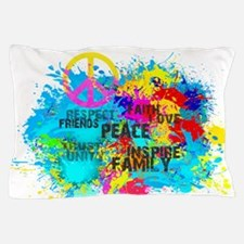 Splash Words of Good Peace Pillow Case