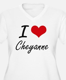 I Love Cheyanne artistic design Plus Size T-Shirt