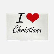 I Love Christiana artistic design Magnets