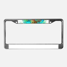 Splash Words of Good Peace License Plate Frame