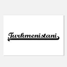 Turkmenistani Classic Ret Postcards (Package of 8)