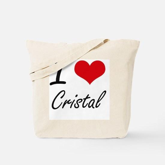 I Love Cristal artistic design Tote Bag
