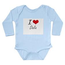 I Love Dalia artistic design Body Suit